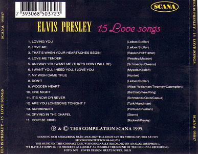 15 Love Songs (Scana) - Elvis Presley Various CDs