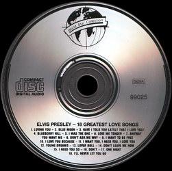18 Greatest Love Songs - Elvis Presley Various CDs