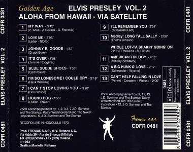 Aloha From Hawaii Vol. 2 (Fremus) - Elvis Presley Various CDs
