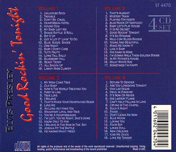 Good Rockin Tonight (Starlife 4 CD Set) - Elvis Presley Various CDs