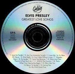 Greatest Love Songs - Elvis Presley Various CDs