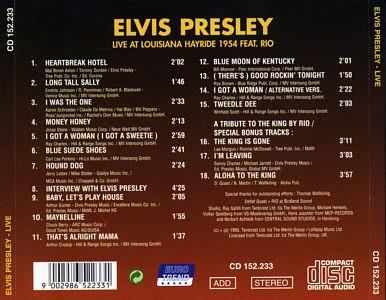 Live At Louisianna Hayride 1954 - Elvis Presley Various CDs