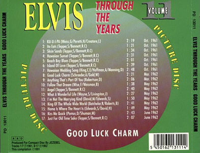 Through The Years Vol. 11 Picture Disc - Elvis Presley Various CDs