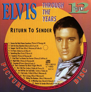 Through The Years Vol. 12 Picture Disc - Elvis Presley Various CDs