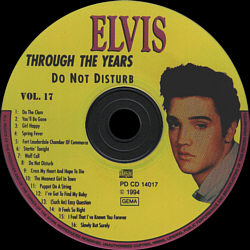 Through The Years Vol. 17  Picture Disc - Elvis Presley Various CDs