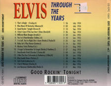 Through The Years Vol. 1  Good Rockin' Tonight - Elvis Presley Various CDs
