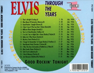 Through The Years Vol. 1 Picture Disc - Elvis Presley Various CDs