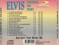 Through The Years Vol. 2  Anyway You Want Me - Elvis Presley Various CDs