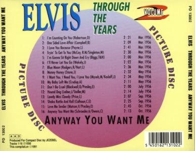 Through The Years Vol. 2 Pictuee Disc -  Elvis Presley Various CDs