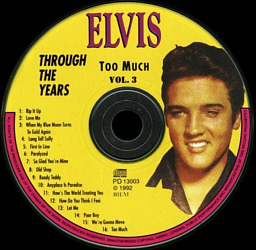 Through The Years Vol. 3 Picture Disc - Elvis Presley Various CDs