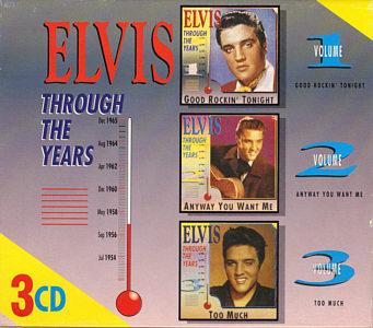 Through The Years 3 CD Volume 1/2/3 - Elvis Presley Various CDs