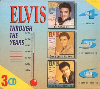 Through The Years 3 CD Volume 4/5/6 - Elvis Presley Various CDs