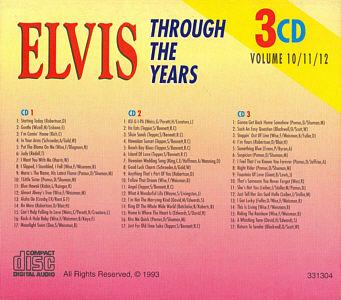 Through The Years 3 CD Volume 10/11/12 - Elvis Presley Various CDs