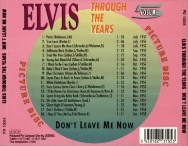 Through The Years Vol. 5 Picture Disc - Elvis Presley Various CDs