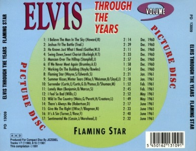 Through The Years Vol. 9 Picture Disc - Elvis Presley Various CDs