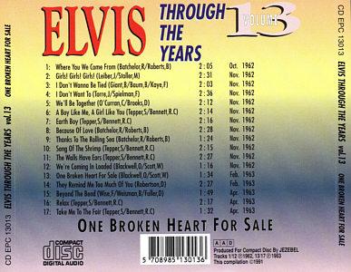 Through The Years Vol. 13 - Elvis Presley Various CDs