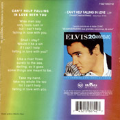 Can't Help Falling In Love - Elvis Presley Promotional CD