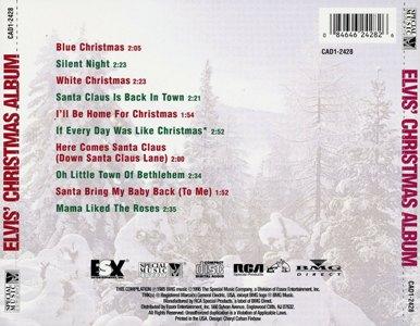 Elvis' Christmas Album (Reissue) - USA 1995 - CAD1-2428 - Elvis Presley CD