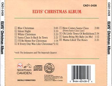 Elvis' Christmas Album (Camden) - USA 1994 - CAD1-2428 - Elvis Presley CD