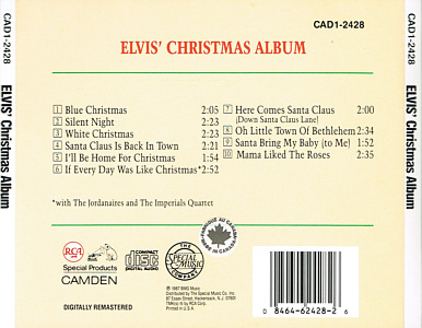 Elvis' Christmas Album (Camden) - USA 1991 - CAD1-2428 - Elvis Presley CD